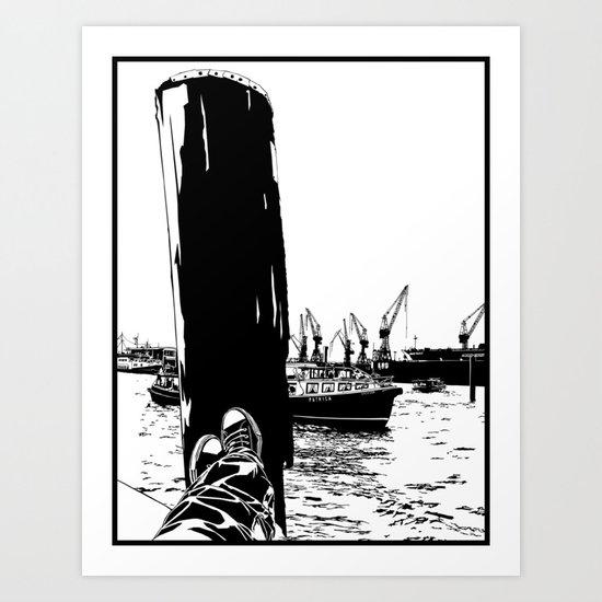 hamburg fischmarkt Art Print