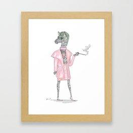Regina George as CEO Zebra Framed Art Print