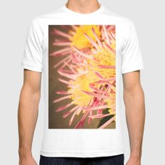 Autumn Fireworks White SMALL Mens Fitted Tee