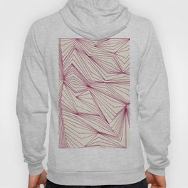 Zig Zag Lines Pink Hoody