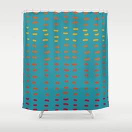 Fiesta at Festival - Turquoise and Orange  Shower Curtain