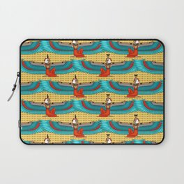 Isis and Nephtys - Turquoise and yellow Laptop Sleeve