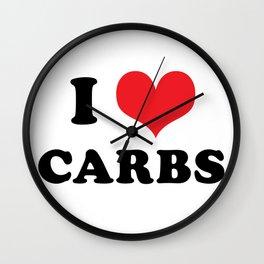 I (heart) CARBS Wall Clock