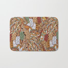 Stylized Boho Bulb Pattern Bath Mat