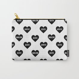 Apathy Death Nihilism Hearts Carry-All Pouch