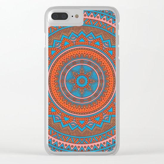 Hippie mandala 58 Clear iPhone Case