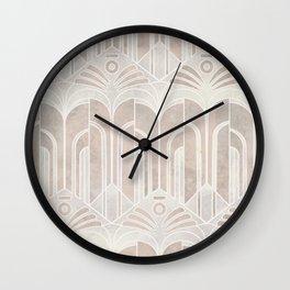 Peach Domio Nouveau Wall Clock