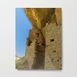 Multi-Storied Building at Mesa Verde Cliff Dwellings Metal Print