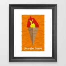 First-Gen Flambé Framed Art Print