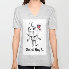 Little Robot Hug Anyone? Unisex V-Neck