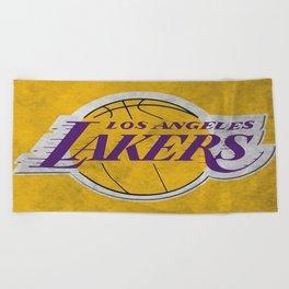 Los Angeles Laker Beach Towel