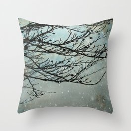 Winter Days Throw Pillow