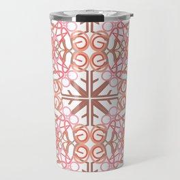 Gender Equality Tiled- Peach Travel Mug