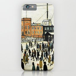 Going to Work by L. S. Lowry iPhone Case