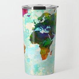 Abstract Map of the World Travel Mug