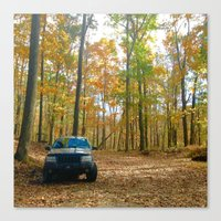 jeep Canvas Prints featuring Jeep by LargeMarge31