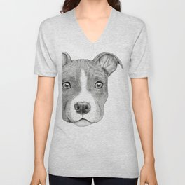 Staffordshire Terrier Dog Unisex V-Neck