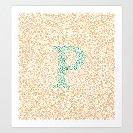 """""""P"""" Eye Test Full Art Print"""