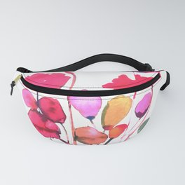 Red poppy watercolor Fanny Pack