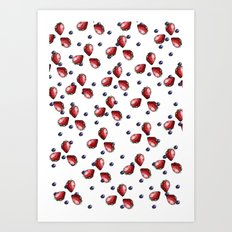 Berry Fields Art Print