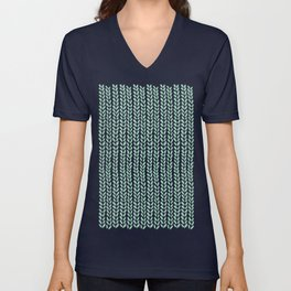 Knit Wave Mint Unisex V-Neck