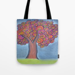 autumn tree before the storm Tote Bag