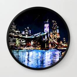 Electric New York Wall Clock