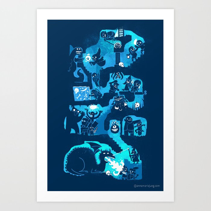 Dungeon Crawlers Art Print