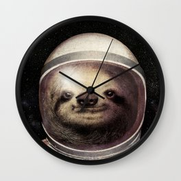 Space Sloth Wall Clock