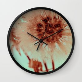 blowing dandelion XI Wall Clock