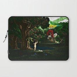 Satan Tempting Even in the Garden of Eden Landscape Painting by Jeanpaul Ferro Laptop Sleeve