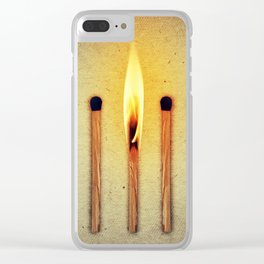match burning alone Clear iPhone Case