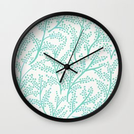 Branches – Mint Palette Wall Clock