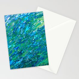 Shades Of Blue Waterfall Stationery Cards