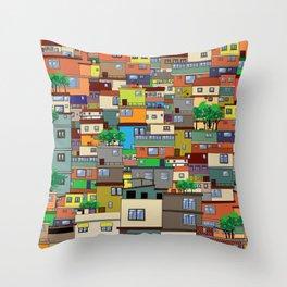 Favela, Rio de Janeiro Throw Pillow