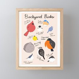 Backyard Birbs Framed Mini Art Print