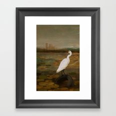Marshland vs Man Framed Art Print