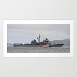 USS Chosin with Kayak and Pilot Escort Art Print