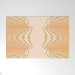 Cream and Olive Green Pattern Welcome Mat