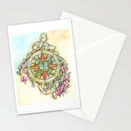 Blooming Compass Stationery Cards