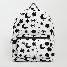 Cosmis space in black and write Backpack
