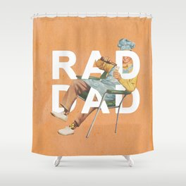Rad Dad Shower Curtain