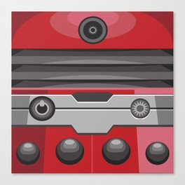 Dalek Red - Doctor Who Canvas Print