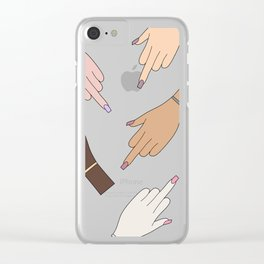 Worldwide Babes Clear iPhone Case