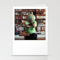 globe Stationery Cards featuring Globe by Kelly Nicolaisen