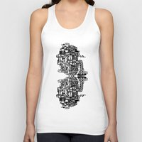 cafe Tank Tops featuring CAFE by TortueMasquee