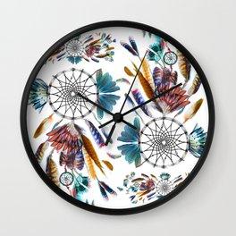 Dreamcatcher boho Wall Clock