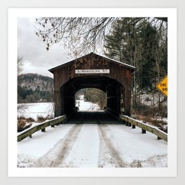 Winter is the Bridge Between One Year and Another Art Print