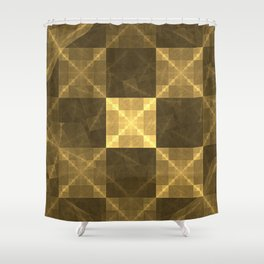 Gilded Electrical Squares Shower Curtain