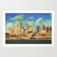 philadelphia Art Prints featuring Philadelphia by Taylan Soyturk